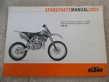 04 KTM 105 SX CHASSIS & ENGINE MOTOR SPARE PARTS MANUAL BOOK