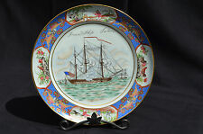 PUIFORCAT/RAYNAUD LIMOGES PORCELAIN CABINET PLATE, LTD. EDIT. PEABODY MUSEUM,10""