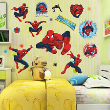 Removable 3D Spider Man Kids Room Decor Wall Stickers Decals Wallpaper Mural Art