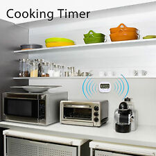 LCD Digital Kitchen Timer Cooking Large Count Down Up Reset Loud Alarm Clock New