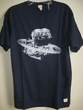 ($49) NWT DEUS EX MACHINA TEE SIZE XS PARALLEL TWIN NASA SURF NAVY BLUE T-SHIRT