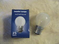 10x 25W OPAL / FROST B22 BC Golf Ball Round 45mm Dazzler Lamp Light Bulb Job Lot