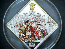 2009 Palau Large Proof color $1 Battle of Teutoburg- Roman Legion