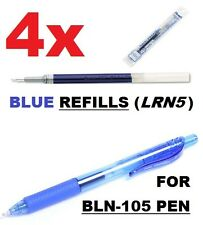 4x BLUE REFILLS (LRN5-C) for BLN-105 Pen Pentel Energel or BLN-77 Deluxe 0.5 mm