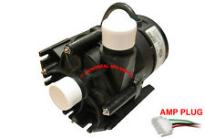 "Laing E10 spa hot tub circulation pump 230V 1"" barbed with 4' cord & AMP plug"