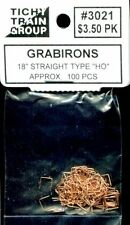 "HO SCALE:  TICHY TRAIN GROUP 3021:  GRAB IRONS..18"" STRAIGHT"