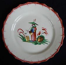 B136) Assiette ancienne en faïence de l'Est (LES ISLETTES? LUNÉVILLE?) CHINOIS