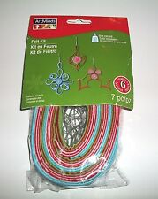 ART MINDS FACTORY SEALED FELT KIT MAKES 6 CRAFT KIT GLUE REQUIRED