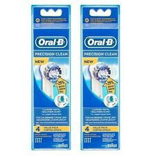 8 X BRAUN ORAL B PRECISION CLEAN TOOTHBRUSH HEADS PACK OF 8 BNIP 100% GENUINE