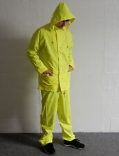 NEW Hi Viz Waterproof Rain Jacket & Trousers Set Soft Flex Suit Size Small BNWT