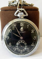 "WWII VERY RARE GERMAN MILITARY PILOTS MEN'S POCKET WATCH""BISCHOFF""NOS # 680"