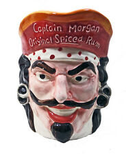 Captain Morgan Original Spiced Rum Pitcher Tiki Bar Figural Toby Jug Head Pirate