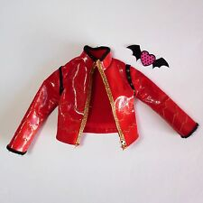 ❤ Monster High Boy Doll Clothes Manster Holt Hyde Fab Red Pleather Jacket ❤