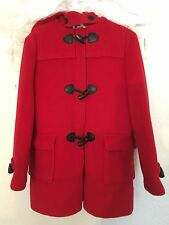 Burberry Childrens Vtg Red Toggle  Girls Coat (14 Year) Dry Cleaned Peacoat EUC