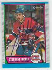 Autographed 89/90 OPC Stephane Richer - Canadiens