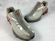 """Vintage 2001 Nike Shox """"R4 Plus"""" Gray and Red Running Shoes Men's 7.5 104311"""