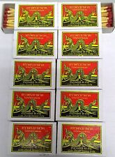 10 Boxes=400 Red Sticks New Original Phrayanak Thailand Wooden Matches