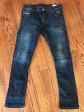 Diesel Men's Jeans 32x32 Krooley Stretch Regular Slim Carrot Dark wash