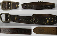 Ralph Lauren Polo Belt Montana Studded Jeweled Brown Mens 38 New