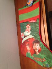NEW ARTHUR CHRISTMAS HOLIDAY CHRISTMAS STOCKING WITH SANTA & ARTHUR RED & GREEN
