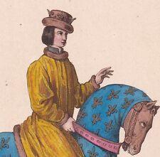 Portrait Charles IV Le Bel Roi France Navarre Loi Salique Marie Luxembourg