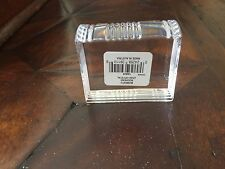 Pair of Waterford clear crystal bookends made in Austria New in Box