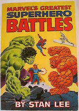MARVEL'S GREATEST SUPERHERO BATTLES~1978~PAPERBACK~FIRST EDITION~STAN LEE