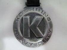 Antique Vtg Pocket Watch FOB Leather Strap KOEHRING Heavy Duty Double Side Pic