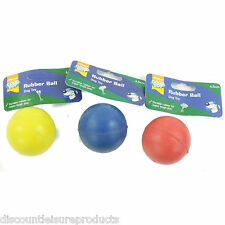"Good Boy Dog/Puppy Toy - Solid Rubber Ball 65mm (2"") Diameter Throw Fetch Toy"