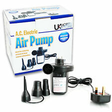 UKHobbyStore Electric Air Pump 240v Inflatable Mattress Mains Foot Toys Airbed