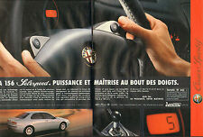 Publicité Advertising 1996 (double page)  ALFA ROMEO 156 Selespeed