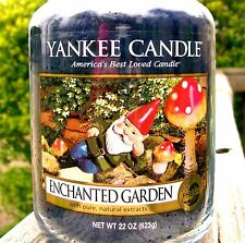 """Yankee Candle """"ENCHANTED GARDEN"""" GNOME Fresh Scented Large 22 oz.RARE & VHTF NEW"""