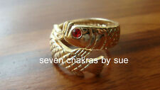 Feng Shui - Adjustable Rose Gold Red-Eyed Arowana Ring
