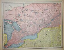 Canada Antique Map 1893, Quebec Ontario New Brunswick Nova Scotia