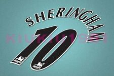 Manchester United Sheringham #10 PREMIER LEAGUE 97-06 Black Name/Number Set