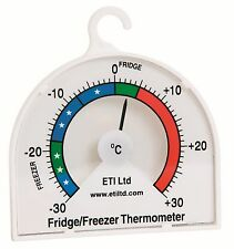 Fridge Freezer Dial Thermometer - shelf hanging or standing