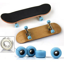 Complete Wooden Fingerboard Finger Skate Board Sport Games Kids Children Toy NEW