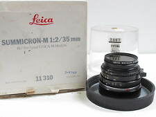 Leitz Leica 35mm f2 Summicron M Black Canada w Uva Filter Box Bubble 9.8OF 10