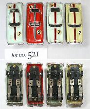 4pc 1960s Hong Kong Kader 1964 Chevy Corvette Coupe x2 +Aston Martin x2 Slot Car