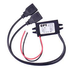 Converter 12V To 5V Power Adapter Tachograph Dual 2 Port USB for DC-DC Car  HOT