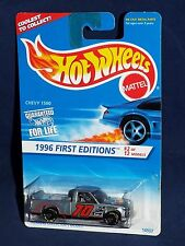 Hot Wheels 1996 First Editions #2 Chevy 1500 Grey w/ Painted Base Small GY7SPs