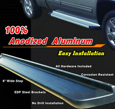 "Military Grade 6"" Black Running Board for 07-13 Gmc Sierra1500 2500 Crew Cab"