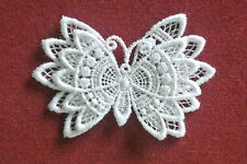 Lace motif - Butterfly  - applique - sew on trim - craft - card making