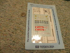 Microscale decals N 60-295 TraileRail Services BO vans K Line containers    L15