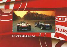 Caterham super 7 brochure 17 pages inc 1.8K 1.6 superlight 1.8VVC exc état
