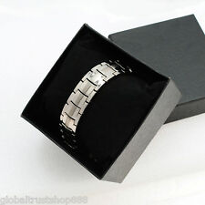 Anti-Fatigue Titanium Anion Magnetic Energy Germanium Power Bracelet + Free Box