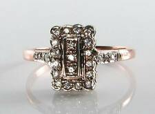 Divine 9ct 9k ROSE ORO tutti Diamond Periodo edoardiano ART DECO INS Anello libero Ridimensiona