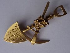 GOOD QUALITY 9CT GOLD SWEETHEART BROOCH TRANSVAAL SOUTH AFRICA GOLD MINE RUSH
