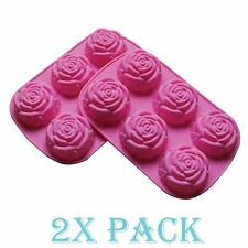 2 Pack Large Rose Delicate Flower Silicone Cake Mold Chocolate mould candy Soap