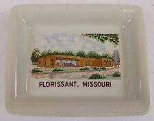 "VINTAGE GINORI, ITALY ""FLOISSANT, MO"",  ASHTRAY, CANDY DISH, KEY HOLDER, CHANGE"